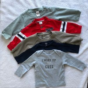 Bundle baby boy long sleeve sweatshirt. Sz 3-9M
